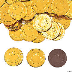 Smile Face Coins Chocolate Candy