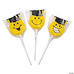 Smile Face Graduation Lollipops