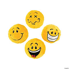 Smile Face Plush Bouncy Ball Assortment