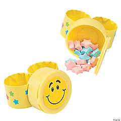 Smile Face Slap Bracelets with Candy
