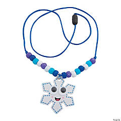 Smile Face Snowflake Beaded Necklace Craft Kit