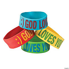 Smile God Loves You Big Band Bracelets