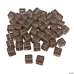 Smokey Quartz Cube Crystal Beads - 8mm