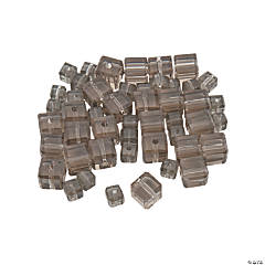 Smokey Quartz Cube Crystal Beads - 4mm-6mm