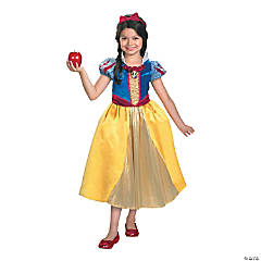 Snow White Lamé Deluxe Costume for Girls