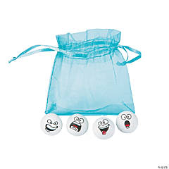 Snowball Erasers in a Bag