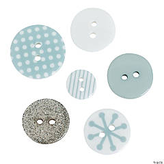 Snowflake Button Assortment