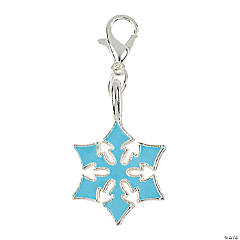 Snowflake Charms with Lobster Clasp