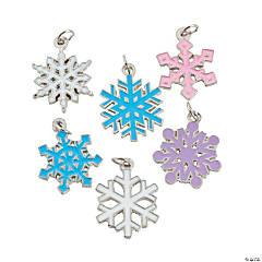 Snowflake Enamel Charms