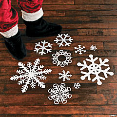 Snowflake Floor Decals