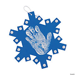 Snowflake Handprint Ornament Craft Kit