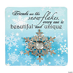 Snowflake Pin & Card Sets