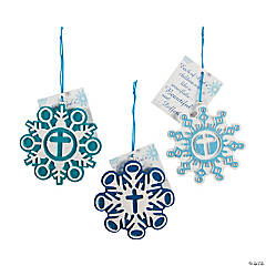 Snowflake with Cross Christmas Ornaments