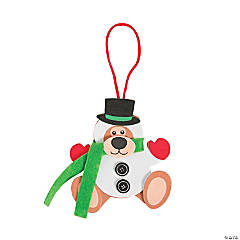 Snowman Bear Ornament Craft Kit