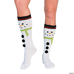 Snowman Christmas Toe Socks