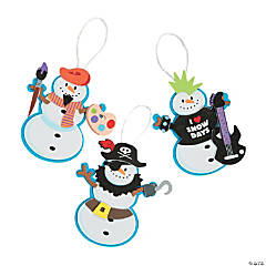 Snowman Costume Ornament Craft Kit