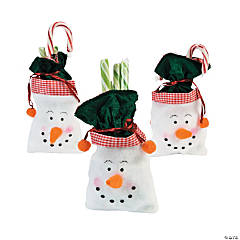 Snowman Drawstring Treat Bags