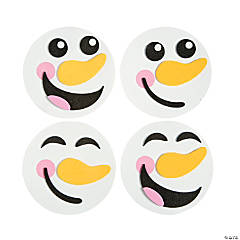 Snowman Face Magnet Craft Kit