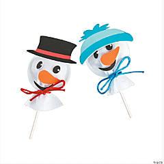 Snowman Felt Sucker Covers Craft Kit