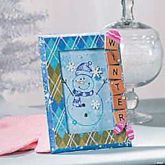 Snowman Frame Decoration Idea