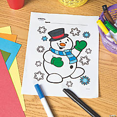 Snowman Free Printable Coloring Page