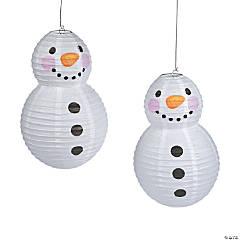 Snowman Hanging Paper Lanterns