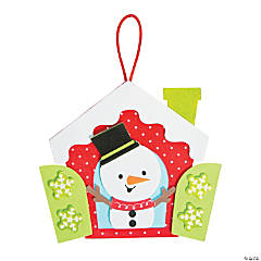 Snowman in a Window Ornament Craft Kit