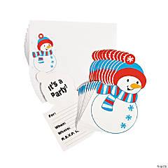 Snowman Invitations - 12 pcs.