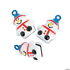 Snowman Jingle Bell Charms