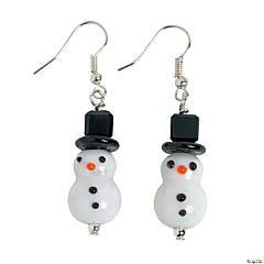Snowman Lampwork Earring Kit