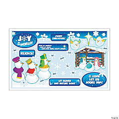 Snowman Nativity Mini Bulletin Board Set