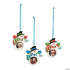 2015 Snowman Picture Frame Christmas Ornaments
