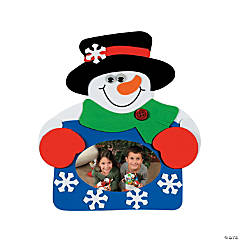 Snowman Picture Frame Magnet Craft Kit -  - Makes 12