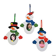 Snowman Picture Frame Ornament Craft Kit - 12