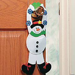 Snowman Pouch Doorknob Hanger Craft Kit