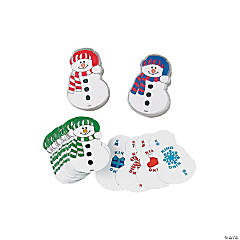 Snowman-Shaped Playing Cards