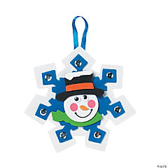 Snowman Snowflake Ornament Craft Kit