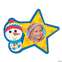 Snowman Star Picture Frame Magnet Christmas Craft Kit