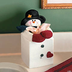 Snowman Tissue Box Cover