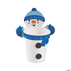 Snowman Treat Cup Hugger Craft Kit