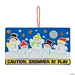 Snowmen at Play Sign Christmas Craft Kit