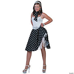 Sock Hop Skirt Scarf Black and White