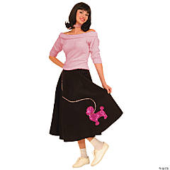 Sock Hop Top Pink Adult Women's Costume