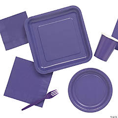 Solid Color Amethyst Tableware