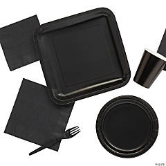 Solid Color Black Tableware