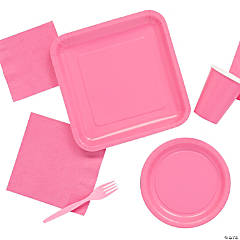 Solid Color Candy Pink Tableware