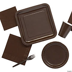 Solid Color Chocolate Brown Tableware