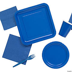 Solid Color Cobalt Blue Tableware
