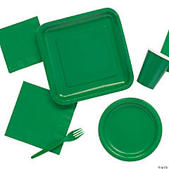 Solid Color Green Tableware