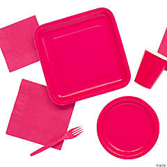 Solid Color Hot Pink Tableware